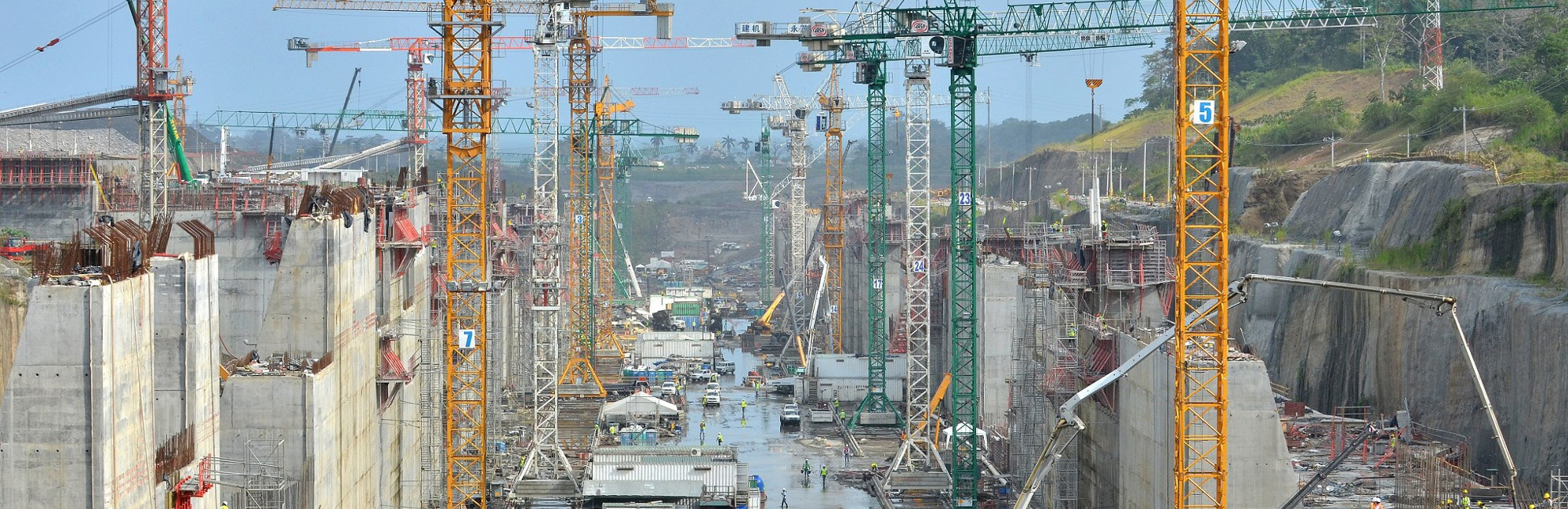Mangueras para la construcción, empleadas en el Canal de Panamá