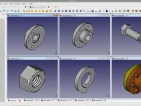 Realizamos el diseño con software CAD open source de los racores y acoplamientos que mecanizamos.